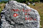 Odcep za najtežji vzpon v Prokletijah - Maja Rosit, najvišji vrh Črne gore