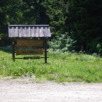 Tabla, ki označuje gozdno posest Hren